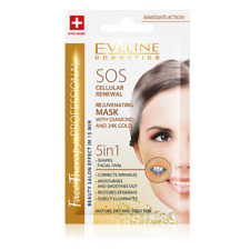 EVELINE 5 in 1 SOS REJUVENATING MASK WITH DIAMIND AND 24K GOLD - 7ml