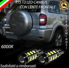 LAMPADE RETROMARCIA 13 LED T15 W16W CANBUS PER TOYOTA RAV 4 II 6000K NO ERROR