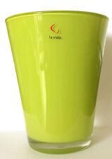 Vase Blumenvase Glasvase grün 17 cm hoch - hochwertig