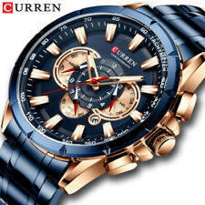 CURREN Men Brand Watch Chronograph Wristwatch Stainless Steel Band Male Watches