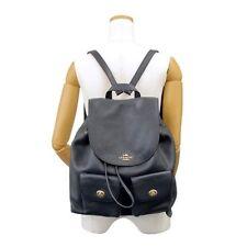 NEW WOMEN'S COACH F29008 BILLIE BLACK PEBBLED LEATHER BACKPACK BAG