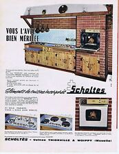 PUBLICITE ADVERTISING 114 1963 SCHOLTES cuisine