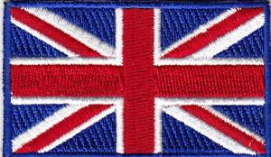 "UNITED KINGDOM FLAG 3 1/2"" Iron On Embroidered Patch UK"