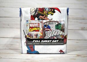 Marvel Comics Full Sheet Set Super Soft Avengers NEW - FREE SHIPPING