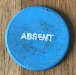 Unmarked Blue ABSENT Casino Chip Token