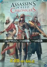【Rare】Assassin's Creed Chronicles (Ubisoft)Original poster Fro:Japan