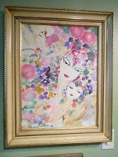 Mid-Century Oil/Acrylic/WC Painting, 1976, 70's, Tel-Aviv …Chagall feeling/style