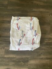 Pottery Barn Kids fitted sheet w/ airplane / plane / transportation print