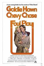 FOUL PLAY Movie POSTER 27x40 Goldie Hawn Chevy Chase Dudley Moore Burgess
