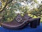 SHOE SALE @ CLARK'S Mules Clogs LEATHER Platforms High Heels Womens Shoes Sz 8.5