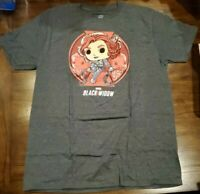 Marvel Collector Corps Exclusive Black Widow Funko Pop Tee T-Shirt Size Large