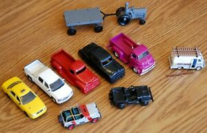 Assortment of 9 Vehicles some metal some plastic 1/43 ? no box