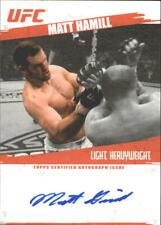 2009 Topps UFC Autographs Card #FAMHA Matt Hamill C
