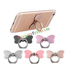 Cute bow 360 ° anneau doigt stand support pour smart phone téléphone portable