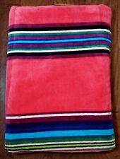 "Pendleton Oversize Beach Spa Pool Luxury Towel Pink Multi Stripe 40""x70"" NWT"