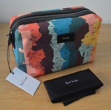 PAUL SMITH Signature Striped MAPS stripe bright artist toiletry bag washbag wash
