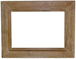 "1950s Mid Century Modern WORMY CHESTNUT PICTURE FRAME for 14"" x 20"" Painting"