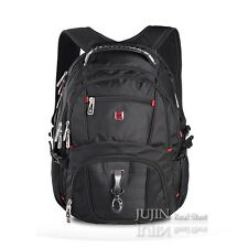 "Swiss Army Knife Wenger 17"" 17.3"" Laptop Backpack Men Travel Bag Waterproof 9850"