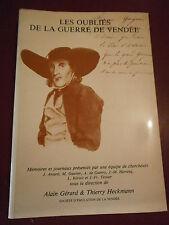Collectif Les oubliés de la guerre de Vendée Révolution Chouans