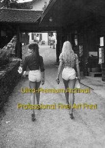 JANE BIRKIN & BRIGITTE BARDOT Perfect Asses * HI-RES PRO ARCHIVAL Photo (8.5x11)