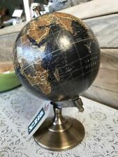 Vintage Antique Decorative Brass Revolving Geography History World Globe Map New