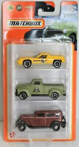MATCHBOX 3 PACK CARS METAL COFFEE CRUISERS 2 1972 LOTUS EUROPA CHEVY 2020 NEW