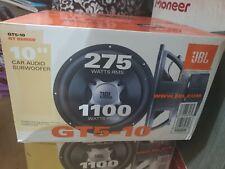 """JBL GT5-10 1100 Watt 10"""" GT Series Dual 4ohm Subwoofer Brand New"""