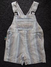 'RUN SCOTTY RUN' BABY BOY OVERALLS DUNGAREES SHORTS SIZE 00 FITS 3-6M