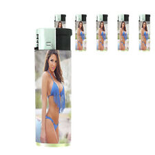 Texas Pin Up Girl D10 Lighters Set of 5 Electronic Refillable Butane