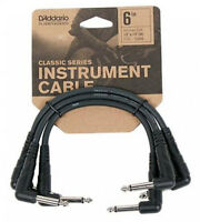 """PLANET WAVES PW-CGTP-305 3-PACK 6"""" CLASSIC SERIES PATCH CABLES - FREE US SHIP"""
