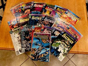 BATMAN KNIGHTFALL Entire Set 1-19 (May-Oct 1993 DC) Batman & Detective! BANE! VF