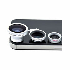 3in1 Magnetic Camera Lens Fish,eye Macro,Wide Angle for All Apple iPhone&Samsung