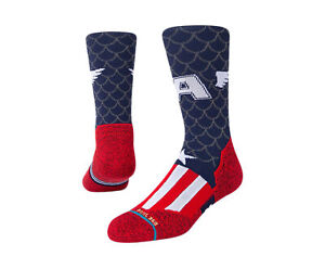 Stance Feel 360 - Marvel Captain Vany/Red/White Crew Socks A558A21CAP-NVY Large