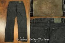 HARLEY DAVIDSON Motor Black Cotton Jeans 5-Pocket Straight DENIM Pants 10