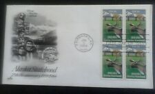 First day of issue, 1984, Alaska Statehood, 25th Annv, block of 4, Scott # 2066