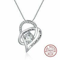 New Sterling Silver Necklace Mothers Day Gift for Her I love You to the Moon Mom