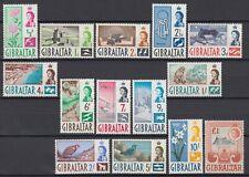 1960-62 GIBRALTAR SG #160-173 MNH SET OF 14, BIRDS, ANIMALS