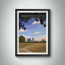 More details for wanstead flats london travel poster - framed - vintage - bucket list prints