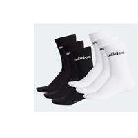 New adidas 3pr pack Mens Crew Socks UK 14.5 to 17  sport casual white black