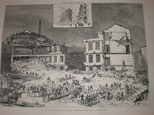 60 die chimney collapse Old Bowling Lane Bradford 1883 old prints and article