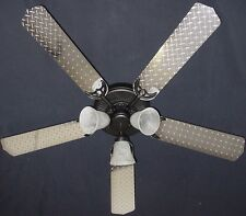 New DIAMOND PLATE SILVER GARAGE MOTORCYCLE TRUCKS Ceiling Fan 52""