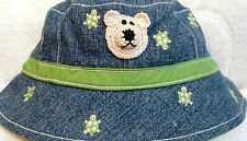 NEW GYMBOREE DENIM BUCKET HAT w/ BEAR 6 9 12 MONTHS BOYS BABY INFANT TURTLE
