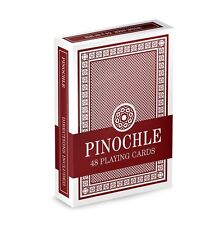 Single Red Deck Pinochle Playing Cards Poker Casino - Coated Brybelly