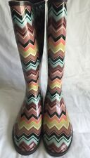 MISSONI FOR TARGET WOMEN'S BOOTS MULTI- COLORED WATER BOOTS US SIZE 8 M