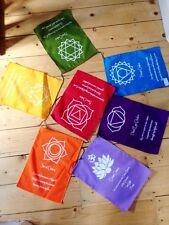 BEAUTIFUL AFFIRMATION CHAKRA PRAYER FLAGS FAIR TRADE MEDITATION NEW AGE REIKI