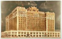 Postcard Memphis TN Hotel Peabody Alsonett Skyway Plantation Roof Tennessee