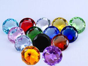 Crystal Diamond Shape Paperweight Glass Gem Display Ornament Wedding Decoration