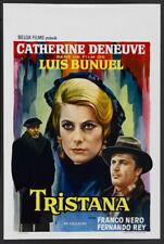 TRISTANA Belgian movie poster LUIS BUNUEL CATHERINE DENEUVE 1970 NM
