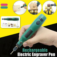 Wireless Electric Engraving Engraver Pen Carve Tool Kit For Jewelry Metal