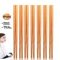 Eg _ Bl _5 Paires / Set 18cm Bambou Naturel Réutilisable Anti-dérapant Baguett